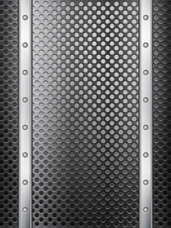 Pattern of metal texture background. Vector illustration. Stock Vector - 15519786