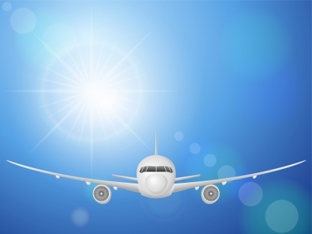 Airplane flying in the sky Stock Vector - 15481032