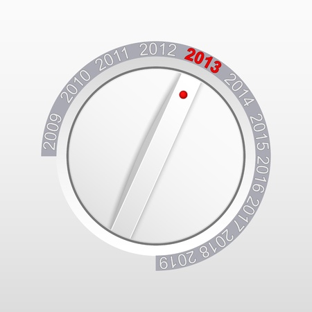 Control knob and new year 2013 illustration  Vector
