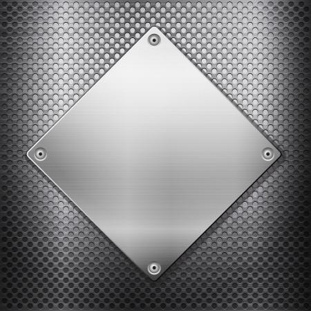 Pattern aus Metall Textur Hintergrund illustration