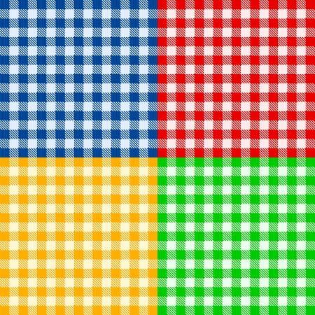 checked: Seamless fabric pattern background illustration  Illustration