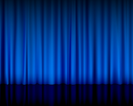 stage curtain: Close view of a blue curtain  illustration