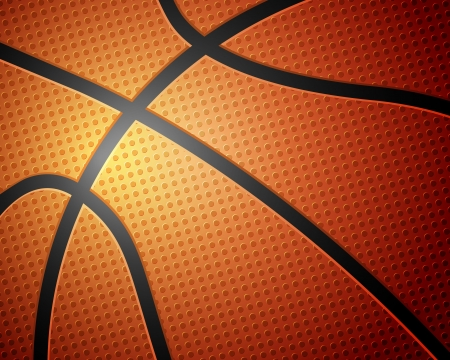 Basketball ball detail leather texture background. Vector illustration.