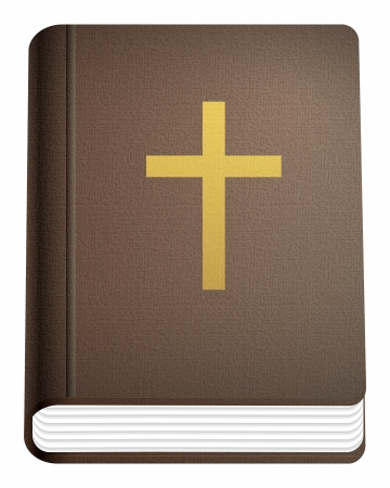 bible and cross: Holy bible on a white background. Vector illustration.