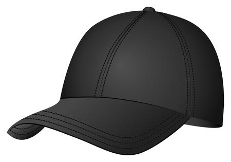 gorro: Gorra de b�isbol sobre fondo blanco. Vector ilustraci�n.