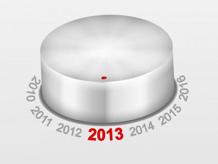 knob: Control knob and new year 2013. Vector illustration.