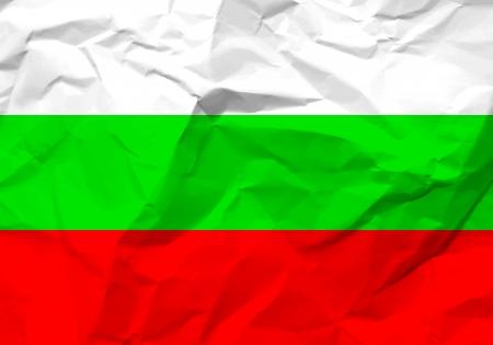 scrunch: Crumpled paper Bulgaria flag textured background.
