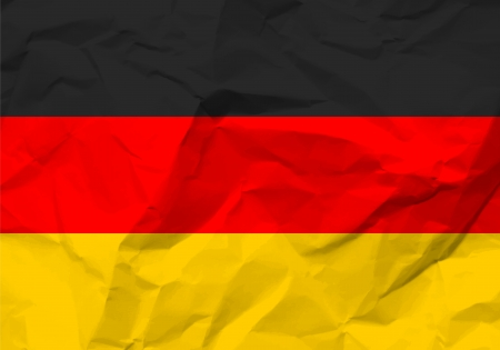 rumple: Crumpled paper Germany flag textured background.