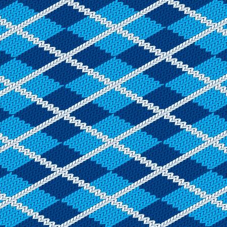 Seamless fabric pattern background. Vector illustration. Illustration