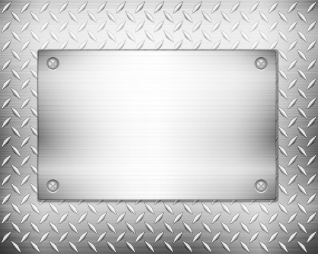 steel plate: Pattern of metal texture background. illustration.