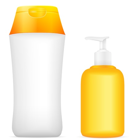suntan lotion: Lotion tube on a white background. illustration.