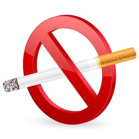 interdiction: No smoking sign on a white background. illustration.