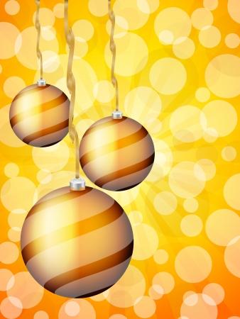 defocus: Christmas balls on defocus background