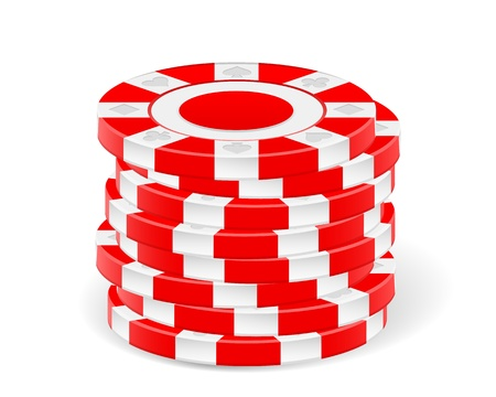 chips stack: Stack chips on a white background. Vector illustration.