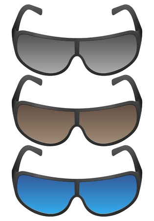 Sport sunglasses on a white background. Vector illustration. Stock Vector - 16299268