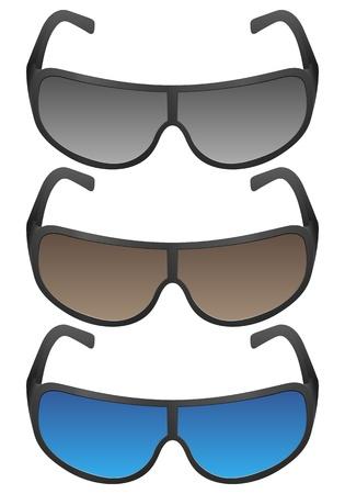 Sport sunglasses on a white background. Vector illustration. Stock Vector - 16299268