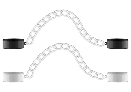 shackles: Two shackles on a white background. Illustration