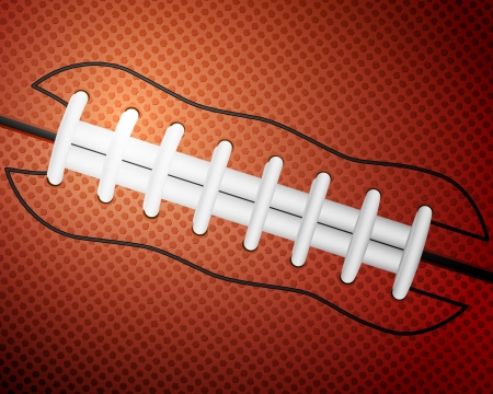 American football ball detail leather texture background. Vector illustration. Vector