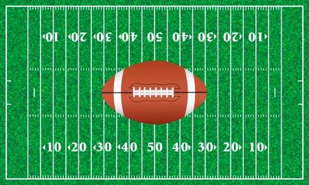 American football ball on a playground. Vector illustration. Stock Vector - 16434283