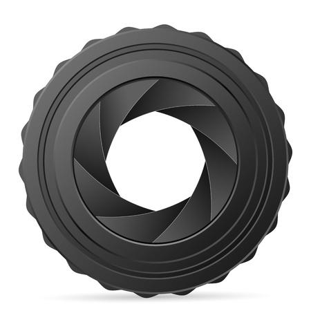 Camera shutter on a white background. Vector illustration. Vector