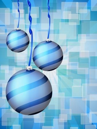defocus: Christmas balls on defocus background. Vector illustration.