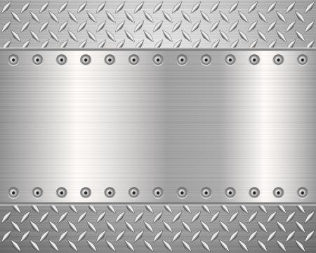 lamiera metallica: Modello di illustrazione background.Vector struttura del metallo.