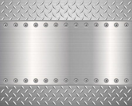 steel background: Pattern of metal texture background.Vector illustration.
