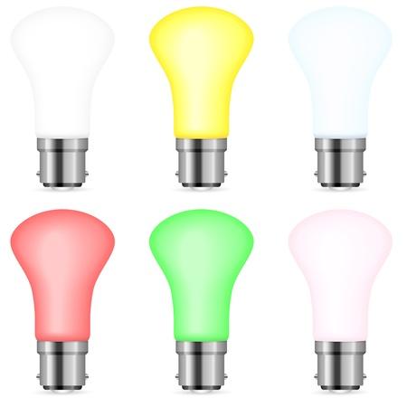 Light bulb set on a white background. Vector illustration. Stock Vector - 16529043