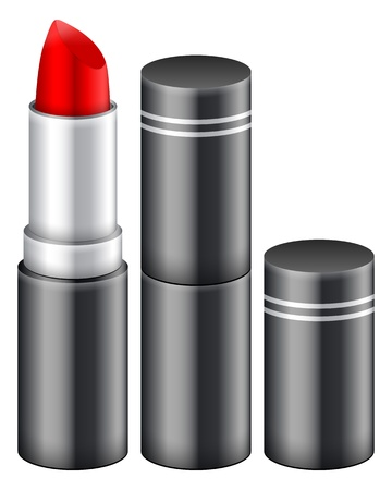 lipstick: Lipstick on a white background. Vector illustration.