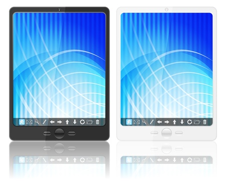 Tablet computer on a white background.  Stock Vector - 16642004