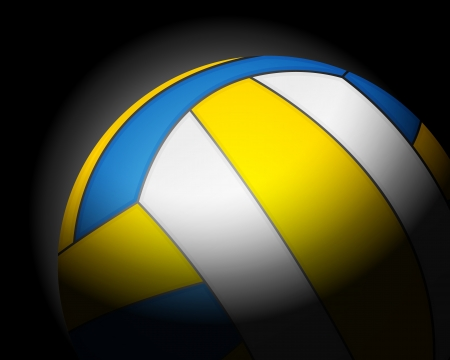 volleyball ball on black background. Stock Vector - 16642003