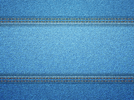 cloth texture: Blue denim frame with copy space. illustration. Illustration