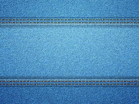denim texture: Blue denim frame with copy space. illustration. Illustration