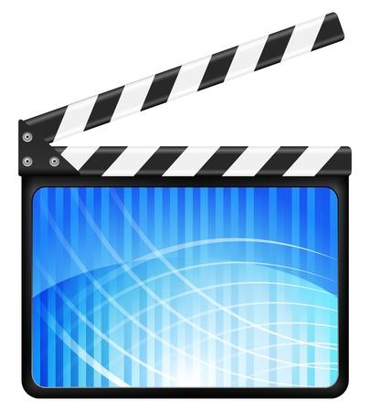 movie clapper: Movie clapper board su uno sfondo bianco