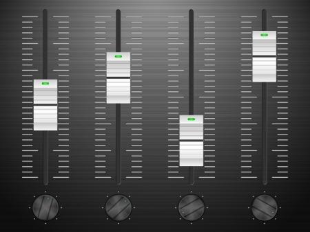 Black DJ sound mixing console. Stock Vector - 17163062