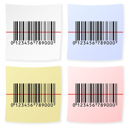 Barcode sticker on a white background