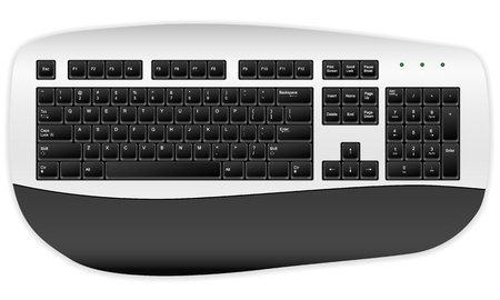 Computer keyboard on a white background. Stock Vector - 17300647