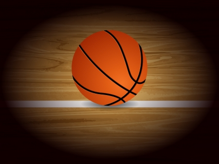 center court: Basketball court background. Vector illustration. Illustration