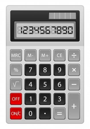 Grey calculator on white background  Vector illustration Stock Vector - 17444073