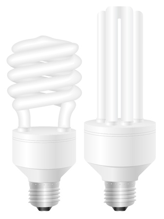 Energy saving light bulbs on a white background. Vector illustration. Stock Vector - 17594248