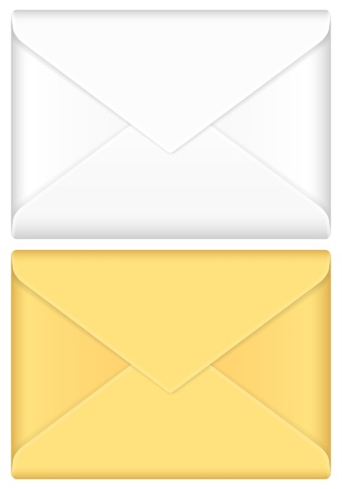 Envelope mail set on a white background. Stock Vector - 17594234