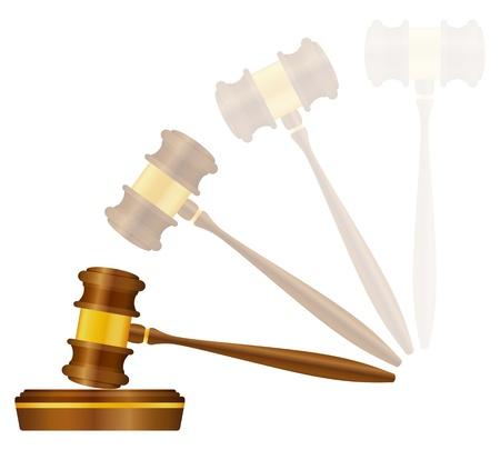 auction gavel: Judge gavel on a white background. Vector illustration.