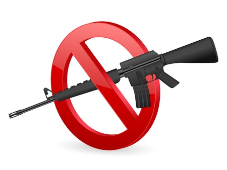 No weapon sign on a white background. Stock Vector - 17594247