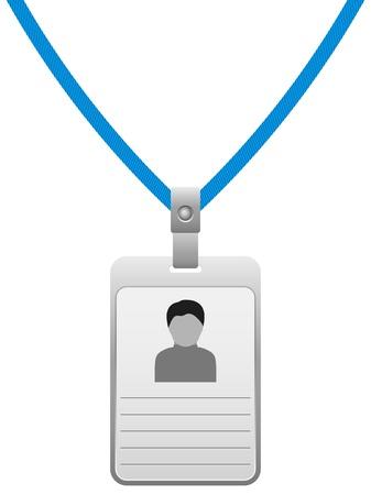 autorizacion: Credencial en una ilustraci�n de fondo blanco