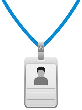id badge: Name badge on a white background   illustration