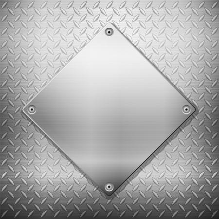 Pattern of metal texture background. Vector illustration. Stock Vector - 18224227