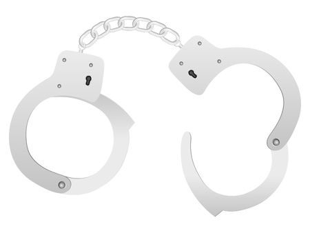 Handcuffs on a white background. Vector illustration. Stock Vector - 18224215