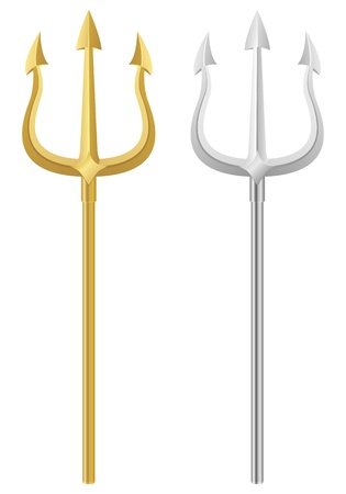 trident: Tridents on a white background. Vector illustration.