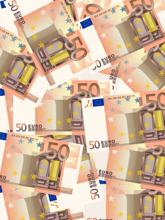 Background from a fifty euro banknotes. Stock Vector - 19085286