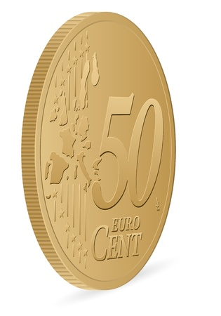 cent: fifty euro cent coin  Illustration